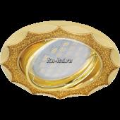 Ecola MR16 DL36 GU5.3 Светильник встр. литой поворотный Звезда под стеклом Золотой блеск/Золото 22x84