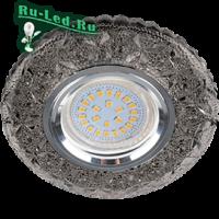 """Ecola MR16 LD7040 GU5.3 Светильник встр. искристый с подсветкой """"Бабочки"""" Тонированный / Хром 25x95"""