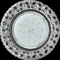 """Ecola GX53 H4 LD7040 Светильник встр. искристый с подсветкой """"Бабочки"""" Тонированный / Хром 35x125 (к+)"""