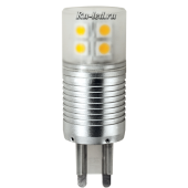 Ecola G9  LED Premium  4,1W Corn Mini 220V 2800K 300° (алюм. радиатор) 65x23