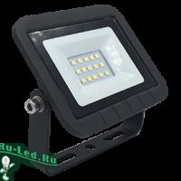 Ecola Projector  LED  10,0W 220V 6000K IP65 Светодиодный Прожектор тонкий Черный 100x80x26