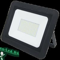 Ecola Projector  LED 100,0W 220V 4200K IP65 Светодиодный Прожектор тонкий Черный 290x230x32