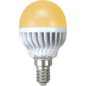Ecola globe   LED Premium  7,0W G45 220V E14 золотистый шар (ребристый алюм. радиатор) 81x45
