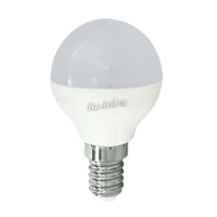 Ecola globe   LED Premium  8,0W G45  220V E14 2700K шар (композит) 77x45