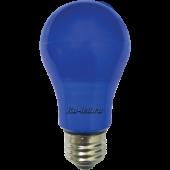 Ecola classic   LED color  8,0W A55 220V E27 Blue Синяя 360° (композит) 108x55