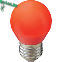Ecola globe   LED color  5,0W G45 220V E27 Red шар Красный матовая колба 77x45