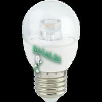Ecola globe   LED Premium  7,0W G45 220V  E27 4000K прозрачный шар с линзой (композит) 80x45