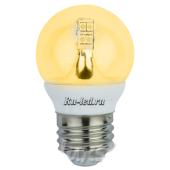 Ecola globe   LED Premium  4,0W G45 220V E27 золотистый 320° прозрачный шар искристая точка (керамика) 76х45