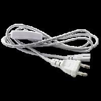 Ecola LED linear  сетевой шнур для светильника T5 с вилкой и общим выключателем, 1м