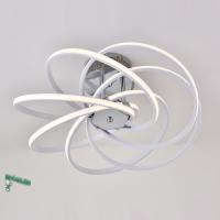 00124-6-43W-4000К Люстра светодиодная потолочная белая с хромом