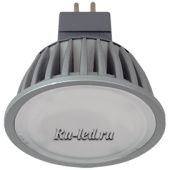 Ecola MR16   LED Premium  8,0W 220V GU5.3 6000K матовое стекло (ребристый алюм. радиатор) 51x50