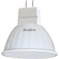 Ecola MR16   LED Premium  5,4W 220V GU5.3  6000K матовая 48x50