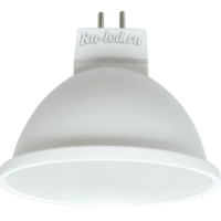 Ecola MR16   LED  5,4W 220V GU5.3  6000K матовая 48x50