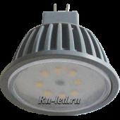 Ecola MR16   LED Premium  8,0W 220V GU5.3 2800K прозрачное стекло (ребристый алюм. радиатор) 51x50