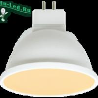 Ecola MR16   LED Premium  8,0W  220V GU5.3 золотистая матовое стекло (композит) 48x50