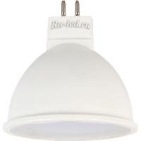 Ecola MR16   LED Premium  5,4W 220V GU5.3  2800K матовое стекло (композит) 48x50