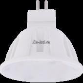 Ecola Light MR16   LED  4,0W  220V GU5.3 M2 2800K прозрачное стекло 46x50