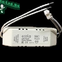 Ecola LED panel Power Supply  36W 220V драйвер для встраив. панели (со ступенькой - PX*K36ELC) с драйвером внутри PF=0,8