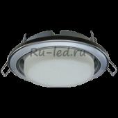 Ecola GX53 H4 9022 светильник встраив. без рефл. 2 цв. черный хром-серебро-черный хром 38х106 (к+)