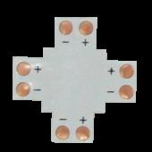 Ecola LED strip connector гибкая соед. плата X для зажимного разъема 2-х конт.  8 mm уп. 5 шт.