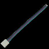 Ecola LED strip connector соед. кабель с одним 4-х конт. зажимным разъемом 10mm 15 см. уп. 3 шт.