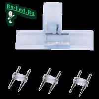 """Ecola LED strip 220V connector комплект для упрощенного соединения """"T""""лента-лента 2-х конт для ленты IP68 14x7"""