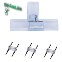 """Ecola LED strip 220V connector комплект для упрощенного соединения """"T""""лента-лента 2-х конт для ленты IP68 12x7"""