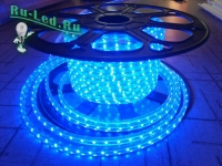 Ecola LED strip 220V STD  4,8W/m IP68 12x7 60Led/m Blue синяя лента 20м.