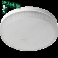 Ecola GX53   LED  8,5W Tablet 220V 2800K матовое стекло (композит) 27x75