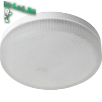 Ecola GX53   LED  8,5W Tablet 220V 4200K матовое стекло (композит) 27x75
