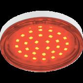 Ecola GX53   LED color  4,4W Tablet 220V Red Красный (насыщенный цвет) прозрачное стекло 27x74