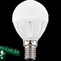 Ecola Light Globe  LED  7,0W G45  220V E14 2700K шар (композит) 82x45 (1 из ч/б уп. по 4)