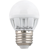 Ecola Light Globe  LED  5,0W G45  220V E27 4000K шар 75x45