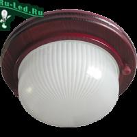 Ecola GX53 LED НБО-03-60-031 светильник Круг накладной IP65 дерево Вишня 1*GX53 матовый 220х84
