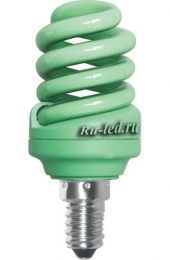 Ecola Spiral Color 12W 220V E14 Green Зеленый 95x43