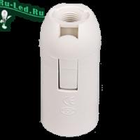 Ecola base Патрон  подвесной E14 Белый(1 из ч/б уп. по 10)