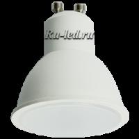 Ecola Reflector GU10  LED  8,0W  220V 2800K матовое стекло (композит) 57x50