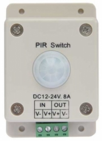 Ecola LED IR Motion Sensor 8A 96W 12V (192W 24V) автоматический выключатель с инфракрасным датчиком движения