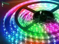 Ecola LED strip 220V STD  8,6W/m IP68 16x8 108Led/m RGB-S сегментированная разноцветная лента 100м.