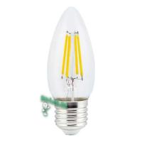Ecola candle   LED  5,0W  220V E27 2700K 360° filament прозр. нитевидная свеча (Ra 80, 100 Lm/W) 96х37