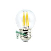 Ecola globe   LED Premium  5,0W G45 220V E27 4000K 360° filament прозр. нитевидный шар (Ra 80, 100 Lm/W, КП=0) 68х45