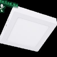 Ecola LED downlight накладной Квадратный даунлайт с драйвером 12W 220V 4200K 170x170x32