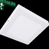 Ecola LED downlight накладной Квадратный даунлайт с драйвером 18W 220V 6500K 220x220x32